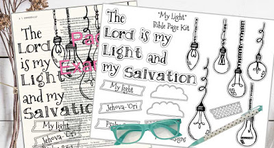 Lot95Designs Bible Page Kit Psalm 27:1