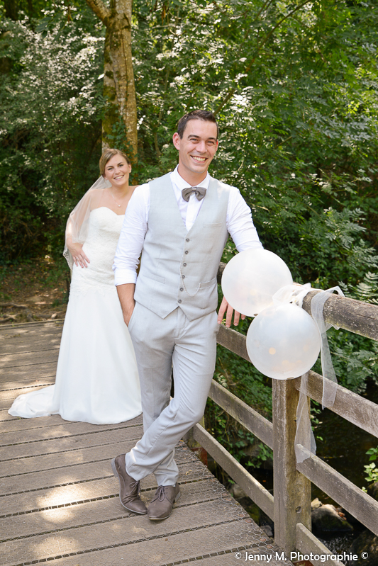 photo mariés sourire