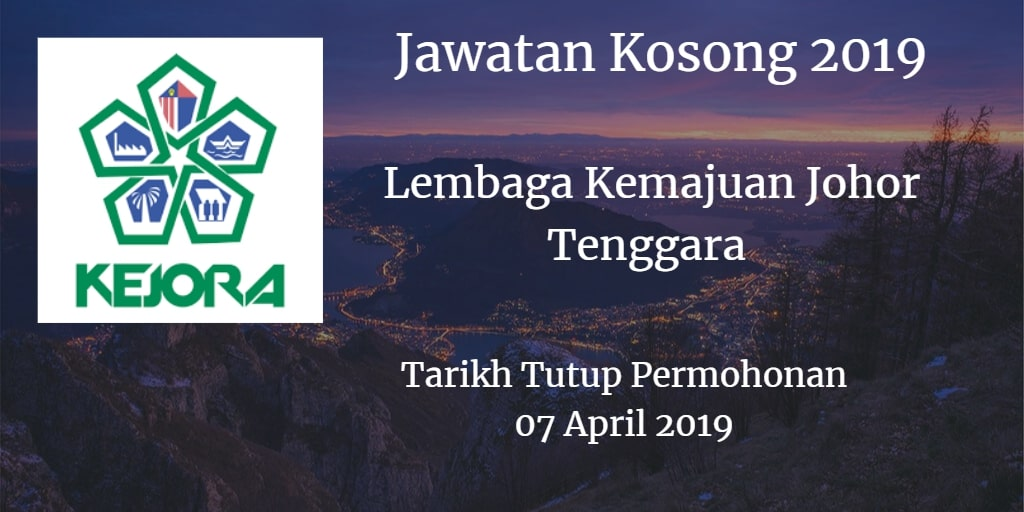 Jawatan Kosong KEJORA 07 April 2019