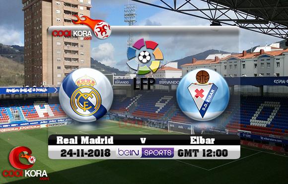 مشاهدة مباراة إيبار وريال مدريد اليوم 24-11-2018 في الدوري الأسباني