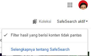 menonaktifkan safe search