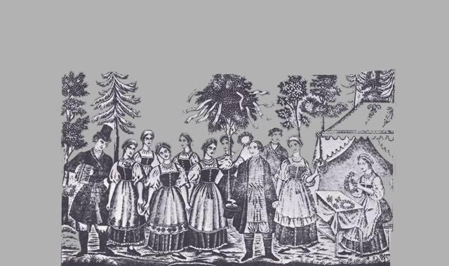 Dorffeier -Frauen in Tracht