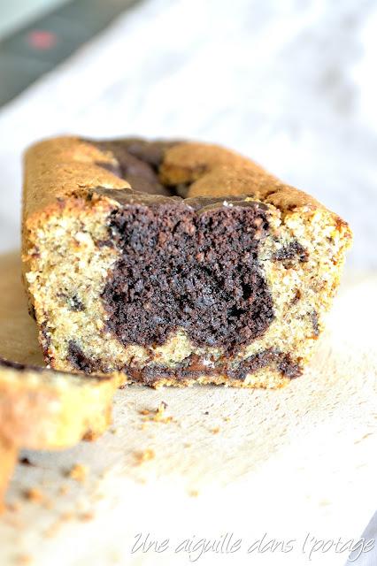 Cake marbré noisettine et chocolat de Philippe Conticini