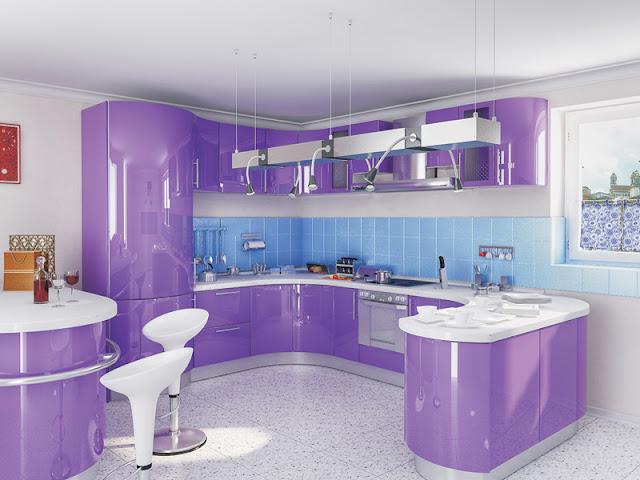 Кухни в стиле модерн акрил