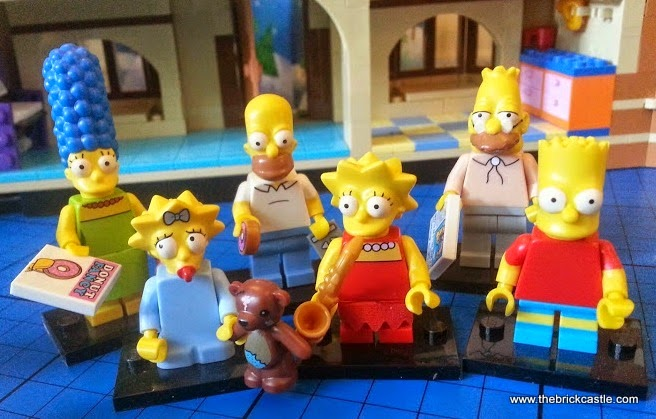 LEGO Simpsons family minifigures blind bags