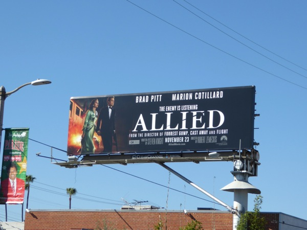 Allied movie billboard