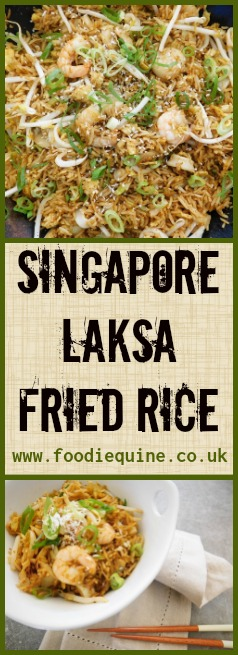 www.foodiequine.co.uk Inspired by a stay at Hotel Jen Orchard Gateway this fragrant seafood fried rice dish will transport you to the Hawker Centres of Singapore. A variation on the popular spicy noodle soup of Peranakan cuisine.
