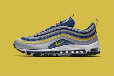 "ff6aae44b390f The Air Max family just continues to grow as Nike recently unveiled a new  ""Michigan""-inspired Air Max 97. This time around the recognizable  Wolverines color ..."