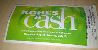 Photo of Kohl's cash certificate for $10