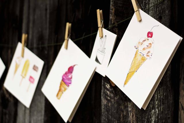 creme-glacee, illustration, dessin, glace-maison