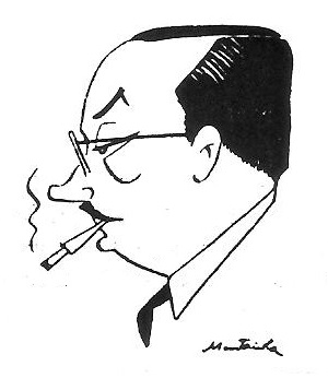 Caricatura del Dr Josep Vallvé i Piñol