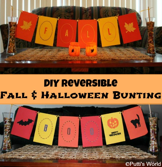 DIY Reversible Fall & Halloween Banner Bunting