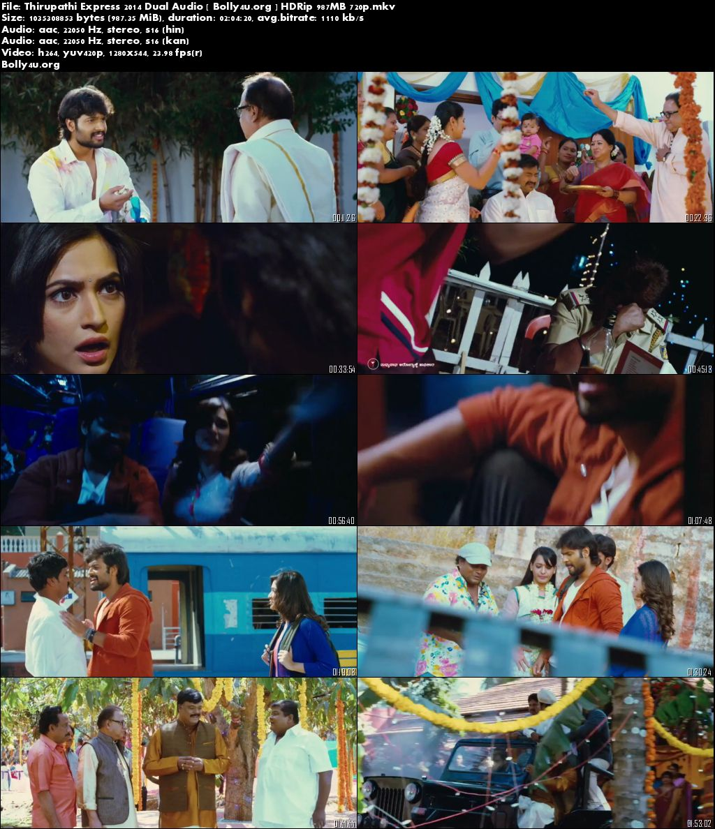 Thirupathi Express 2014 HDRip Hindi 350Mb Dual Audio 480p Bolly4u