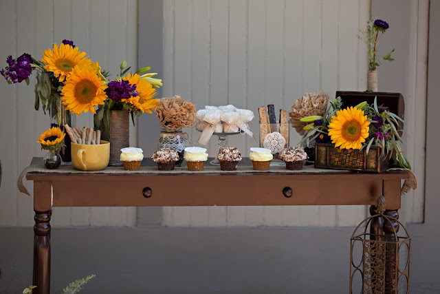 sunflower+flowers+floral+florals+yellow+autumn+fall+lace+burlap+wedding+reception+ceremony+dessert+table+celeste+and+michelle+detail+9 - Sunflower Biscotti