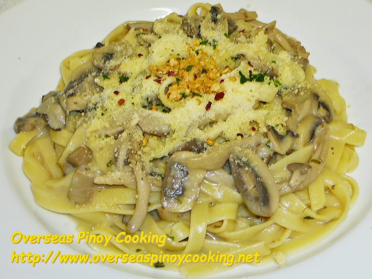 Fettuccine with Mixed Mushroom