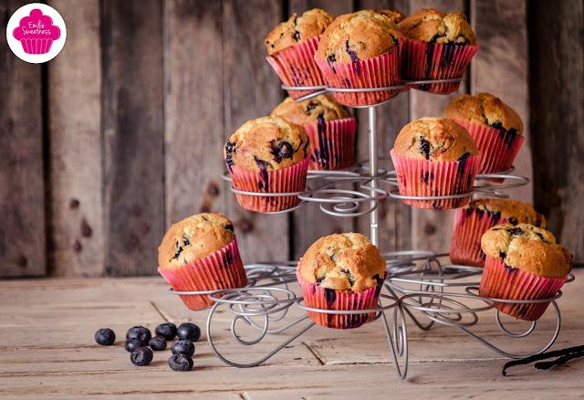 Muffins vanillés aux myrtilles