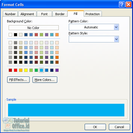 Fill color microsoft excel
