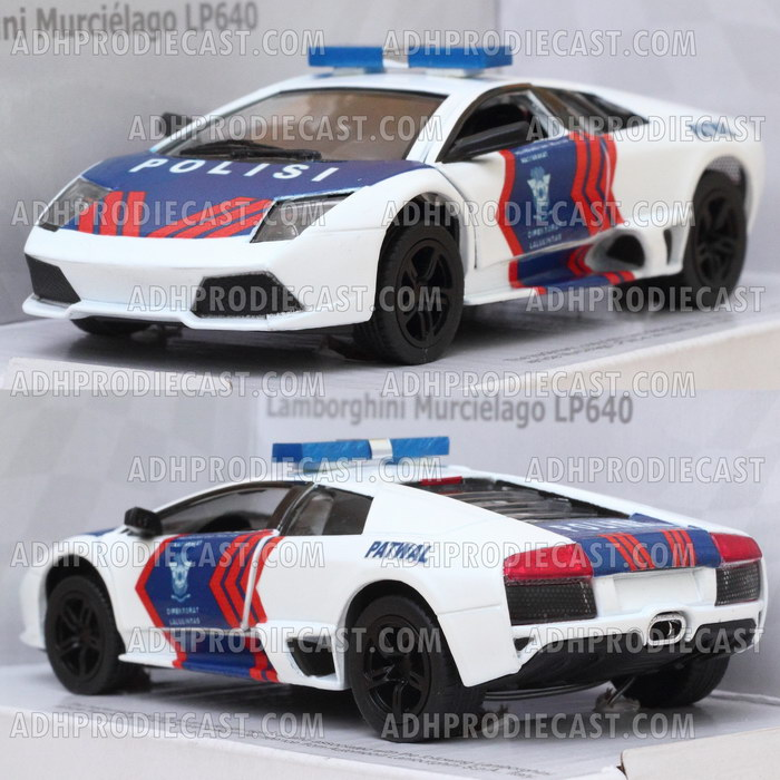 Miniatur Lamborghini Murcielago Patwal Polisi Indonesia