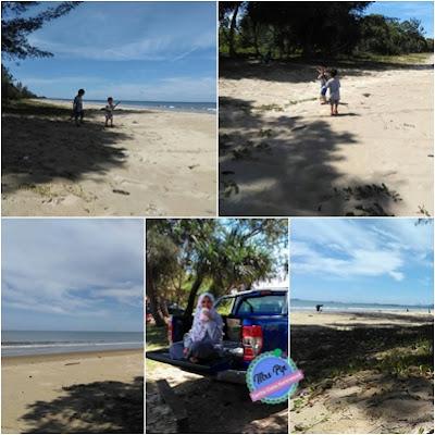 Berhujung minggu di Pantai Kenangan Bongawan