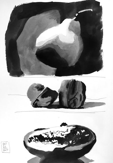 Daily Art 10-20-17 value and contrast - tonal composition studies