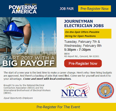 Electrician Jobs Hiring Now Feb 7-8, New England