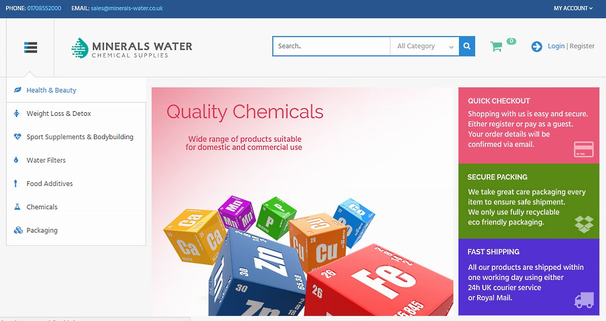 Minerals-Water Limited Website