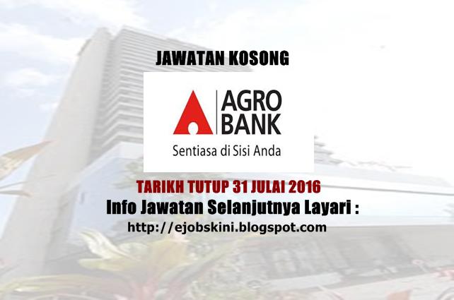 Jawatan Kosong Terkini di Agrobank