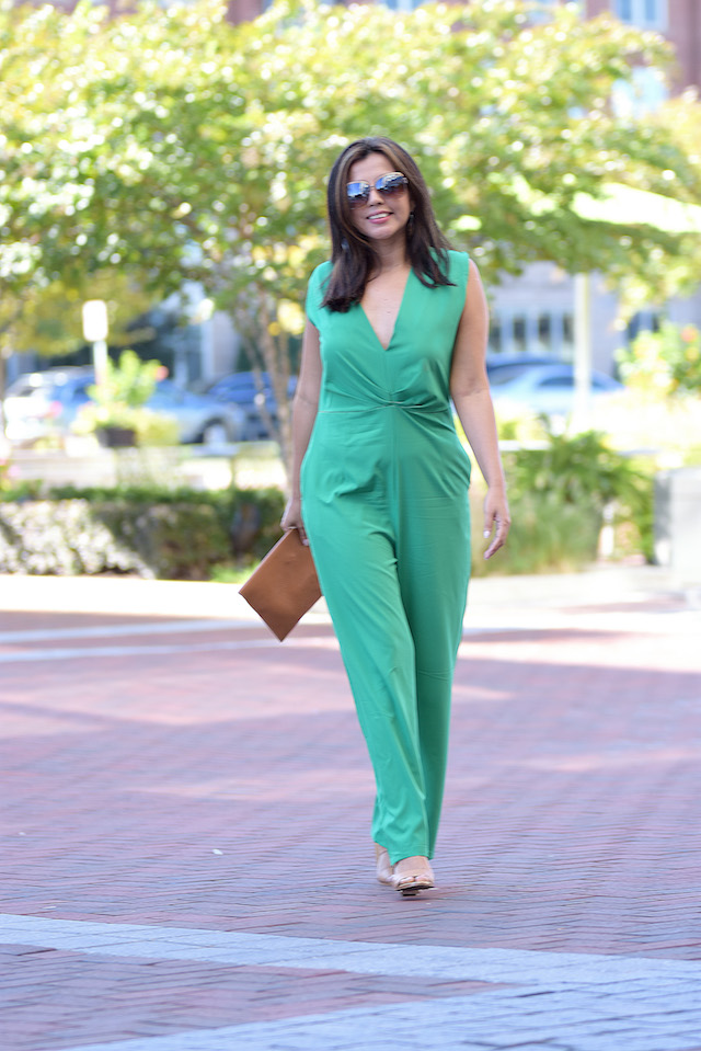 Wearing: Jumpsuit: LighInTheBox
