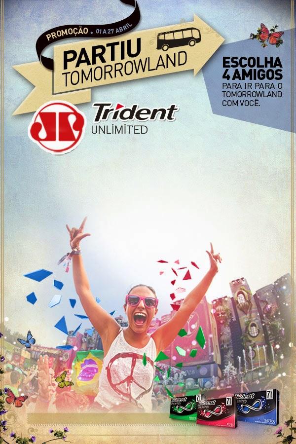 """Concurso  """"Partiu Tomorrowland Trident Jovem Pan"""""""