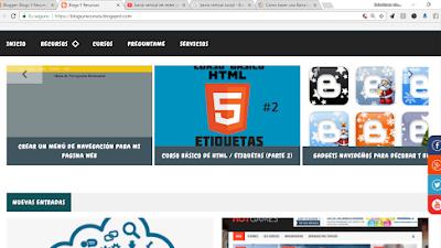 Barra vertical de redes sociales para mi web o blog
