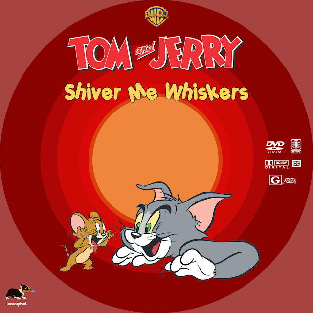 Tom and Jerry: Shiver Me Whiskers DVD Label