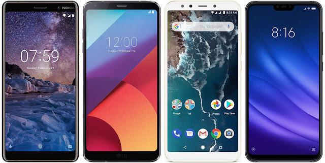 Nokia 7 Plus vs LG G6 vs Xiaomi A2 128G vs Xiaomi Mi 8 Lite 128G