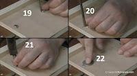 Cómo embutir la cabeza de los pernos en contrachapado. http://www.enredandonogaraxe.com
