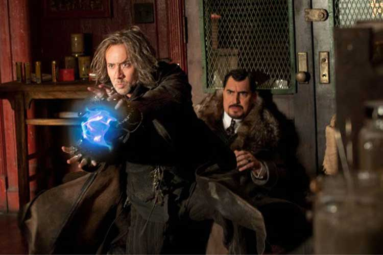Nicholas Cage battles Alfred Molina in The Sorcerer's Apprentice.