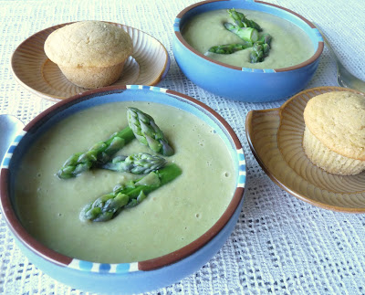Asparagus and Pea or Lentil Soup