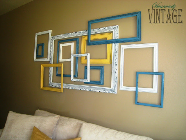 DIY 3D layered picture frame art