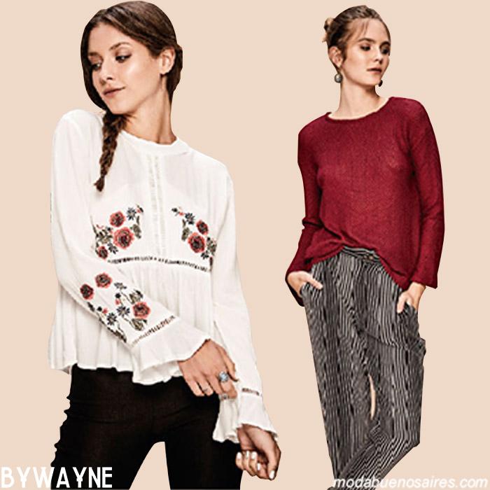Blusas y camisolas otoño invierno 2019. Moda ropa mujer invierno 2019.