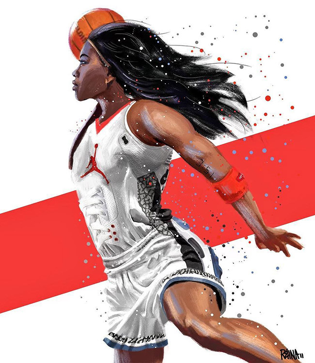 Reina Koyano - #YellowMenace Basketball Art Collection