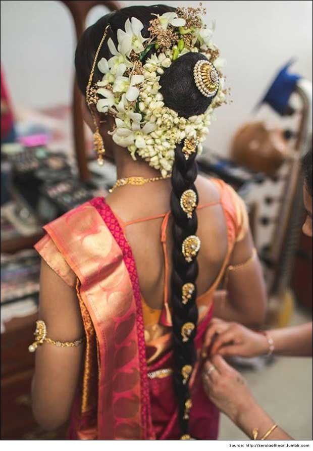 Traditional South-Indian Wedding Hair Styles|