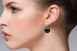 Perlen Ohrringe tahiti-schwarz | LaCatella.de
