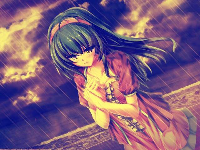 Hình ảnh hoạt hình Anime buồn khóc đầy tâm trạng