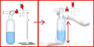ペットボトルをシャッフルして完全に炭酸ガスを溶け込ませる