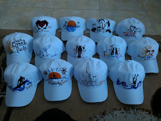 Lukis Topi Pakai Cat Textile MM Juga Bisa Dan Bagus Hasilnya