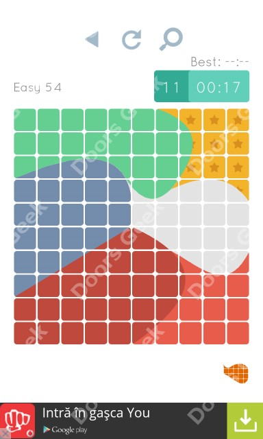 Cheats, Walkthrough for Blocks and Shapes Level 54
