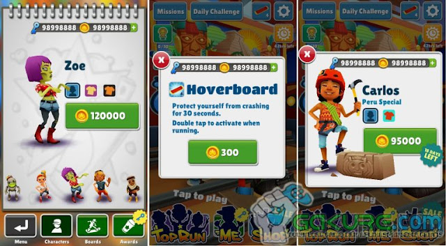 Subway Surfers Mod APK v1.68.1 Update 2017 (Mod Coin + Key) Free