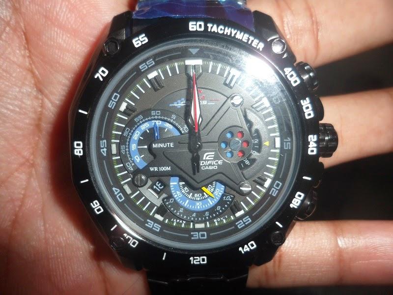 8103059a558 Relógio Casio Edifice Red Bull ef-550BK-1AVDF edição limitada