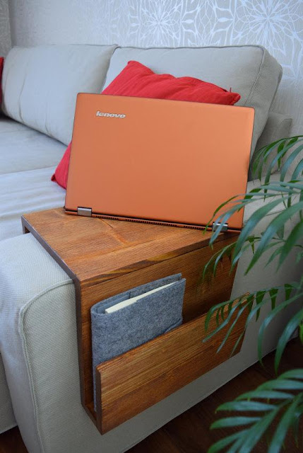 Couch Armrest Laptop Table Tray