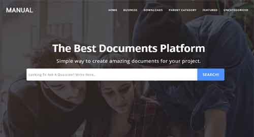 Manual - Online Docs Responsive Blogger Template