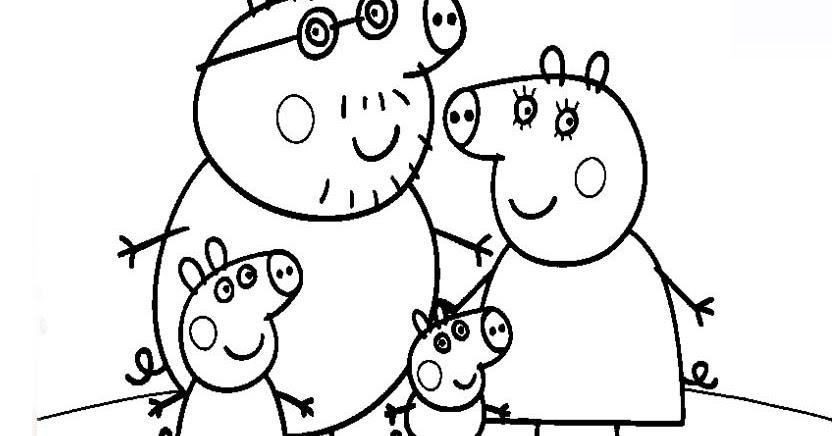 colorear peppa pig colorear familia de peppa pig dibujos para