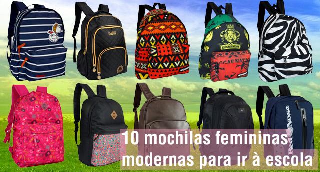 10 modelos de mochilas femininas para você comprar para sua filha